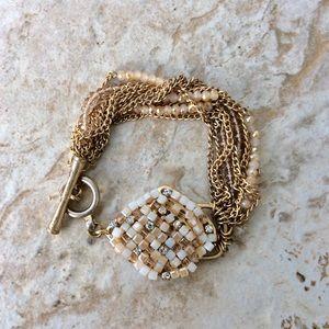 Kenneth Cole-Gold Tone Crystal Bracelet